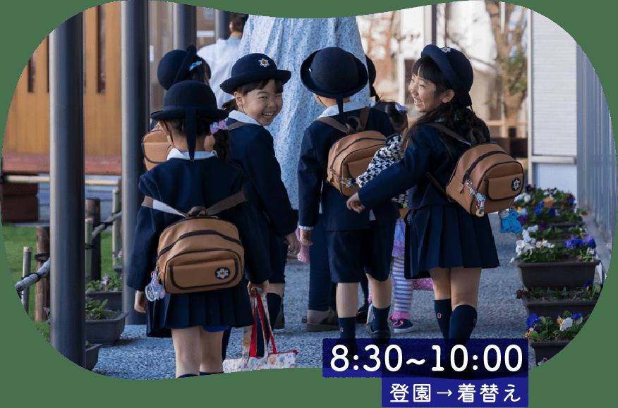 8:30~10:00 登園→着替え
