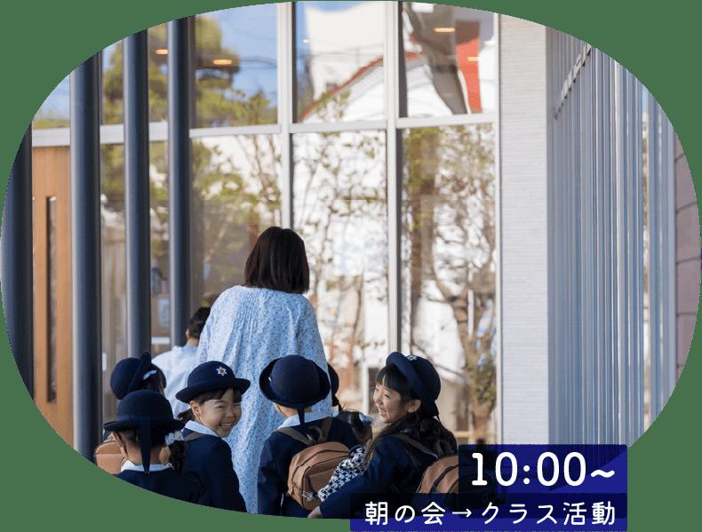 10:00~ 朝の会→クラス活動